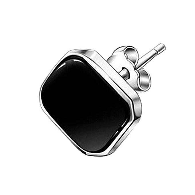 10a13b23d Kakkater Silver Men's Earrings Diamond Amethyst Stud Earrings For Men And  Women Of Sand Black Round
