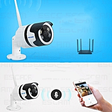 ESCAM QF508 HD1080P WiFi APP Night Vision Two-way Audio IP Camera-WHITE AND BLACK