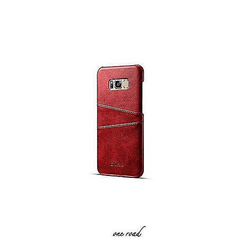 Samsung S9 Plus Deluxe Leather Cell Set, Samsung S9 Plus Cell Set With  Business Card Box, Cell Shell, Back Hard Set - Red
