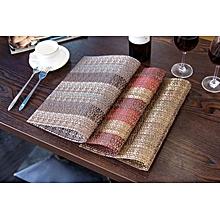 KCASA Fashion Pvc Dining Table Mat Disc Pads Bowl Pad Coasters Waterproof Table Cloth Pad S