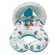 Inflatable Mother Baby Swimming Ring with Seat Floaties Swim Pool Float Toy