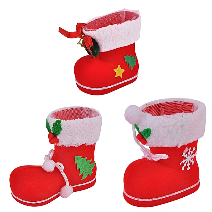 Creative Christmas Flocking Boots Candy Boots Home Decorations Supplies Jumia Kenya