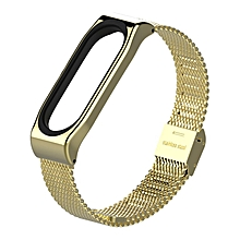 Mijobs Stainless Steel Bracelet Watch Band Strap For Xiaomi Mi band 3 Watch gold