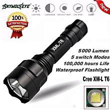 Camping & Hiking Flashlight 5000Lm C8 CREE XM-L T6 LED 18650 Flashlight 5 Mode Torch Tactical Light Lamp