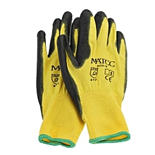 12 Pair Hi Vis Cold Store / Freezer / Thermal Grip Safety Work Gloves (M)