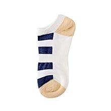 Unisex Stripe Cotton Skateboard Sock Comfortable Socks