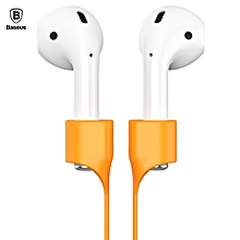 Baseus Earphone Strap Magnetic Adsorption Anti-lost Wire Rope Connector Silicone Accessory for AirPods ORANGE