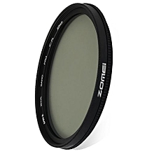 52mm Ultra Thin CPL Circular Polarizer Glass Filter Lens - Black