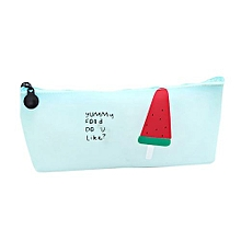 Ice Cream School Pencil Pen Case Cosmetic Makeup Storage Bag