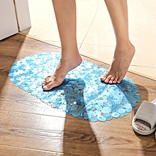 Honana BX-129 68x38cm PVC Pebbles Transparent Non-slip Bathroom Mat Kitchen Bath Suction Cups Non-to