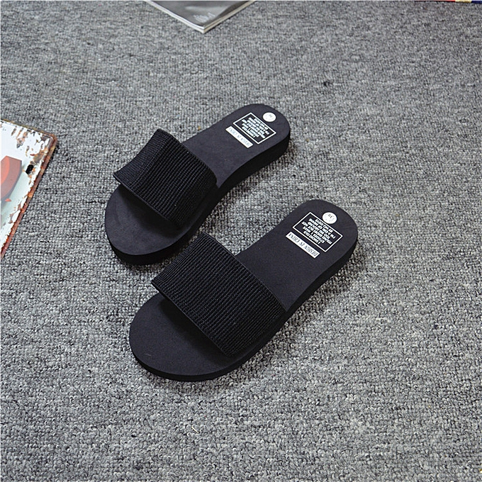 ae43ab1a7536 Birthpar store summer women shoes platform bath slippers wedge beach flip  flops slippers shoes black jpg
