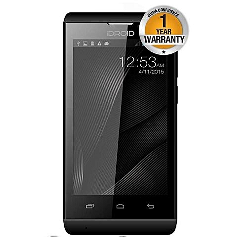 Simu - 8GB - 250MB RAM - 5MP Camera - Dual SIM - Black + FREE Back Cover