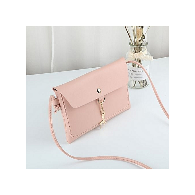 Refined Ladie s Mini Handbag Small Sling Bag Coin Bag PU Leather Bag-pink 796f3bc061