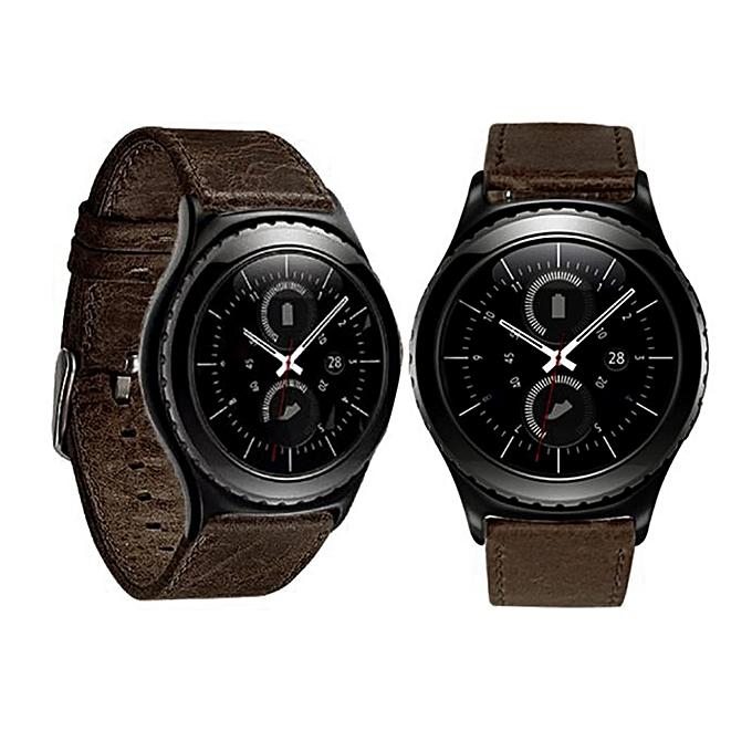 2e72b9219ed Luxury Leather Watch band Wrist strap For Samsung Galaxy Gear S2 Classic BW
