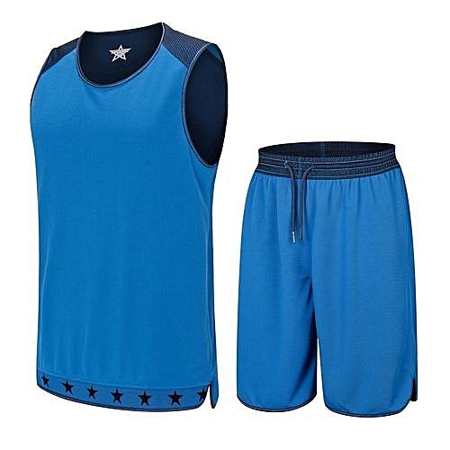b398cce5fb3 Longo Blank Breathable Men's Customized Basketball Team Sports Jersey  Uniform-Blue(GY53107)