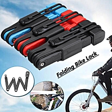 Anti theft Bicycle Lock Anti-shear Bike foldable Lock Motorcycle Lock Electric Bicycle Part Chain Lock Black