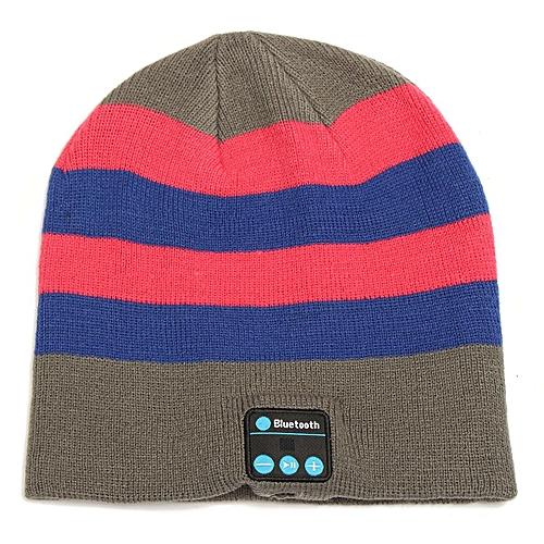 2e70b0ddeb1 Buy Generic Soft Warm Beanie Hat Wireless Bluetooth Smart Cap Headset  Headphone Speaker Mic Pink with stripes   Best Price