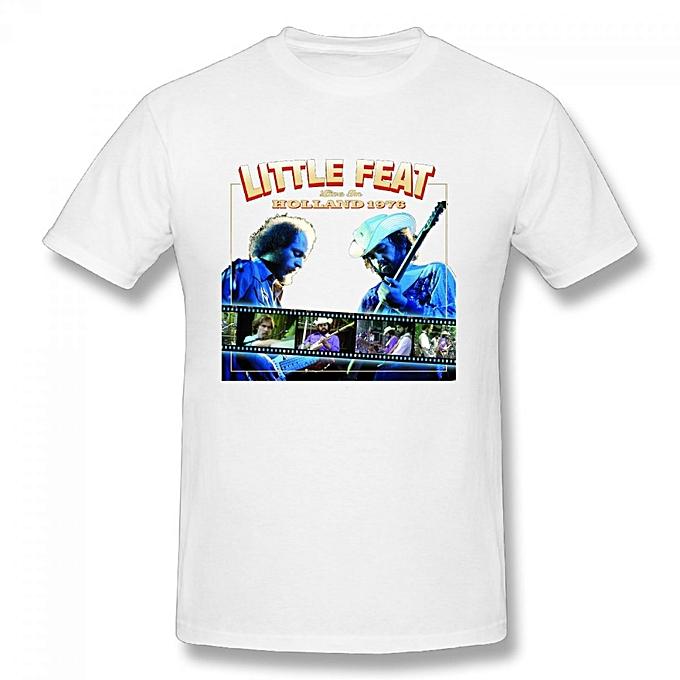 Little Feat Men's Cotton Short Sleeve Print T-shirt White