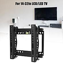 Wall Mounted TV Holder 50KG Loading TV Wall Mount 14-32in LCD TV Wall TV Mount with 15° Adjustment on Each Up & Down