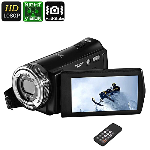 V12 1080P Video Camera Full HD 16X Digital Zoom Recording Camcorder w/3 0  Inch Rotatable LCD Screen Support Night Vision r20 HITIME