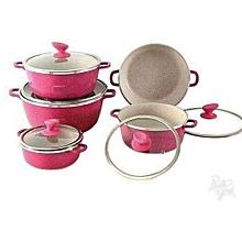 10pc ceramic non-stick pots