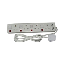 Extension 4-Way Socket  (astra) - White