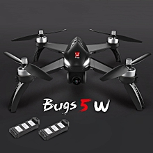 Bugs 5W 1080P 5G Wifi FPV Camera GPS Positioning Altitude Hold RC Drone Quadcopter with 2 Batteries