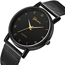 Watch  Ladies Luxury Women Thin Stainless Steel Band Analog Quartz WristWatch Watches-Black