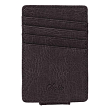 Men Synthetic Leather Wallet Credit Card ID Holder-Dark Gray