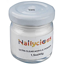 Ultra Clear Acrylic Powder For Nails Acrylic Polymer For Nails,White-45 g