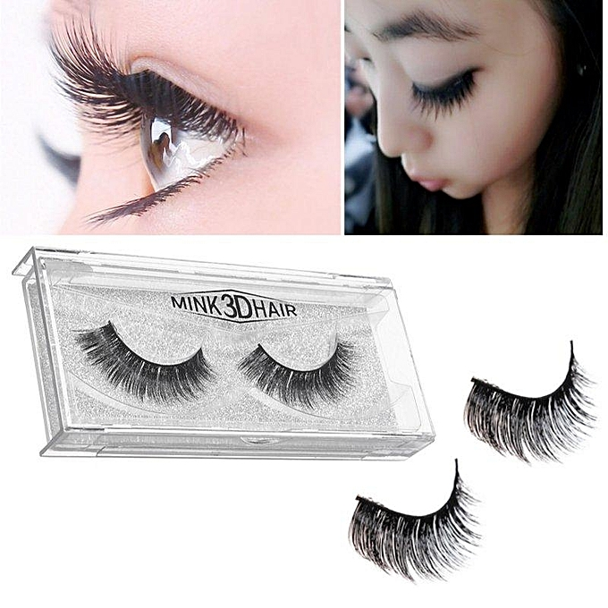 Buy Generic 1 Pair 3d Handmade Thick Mink Eyelashes Natural False