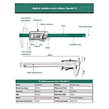 DANIU Digital Display Stainless Caliper Fraction / Inch / Millimeter IP54 Waterproof High-precision balck