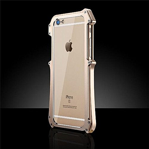 Luxury Aluminum Metal Bumper For Applefor Iphone 6/6s Plus 5 5 InchCase  Prismatic Shape Frame Metal Button Cover(Gold)