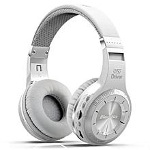 Bluedio HT Hurricane-Turbine Wireless Bluetooth V4.1 Headset Over-The-Ear Headphones (White)-1 Year Bluedio Malaysia Warranty BDZ Mall