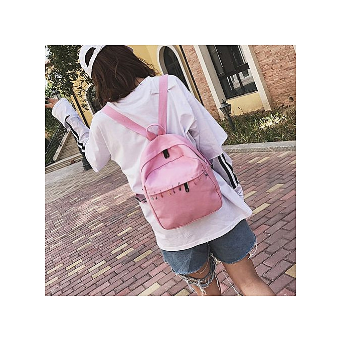 Xingbiaocao Women Canvas Backpack School Backpack Bags Teenagers Casual  Rucksack Travel PK -Pink ac8745c5171c9