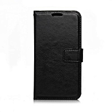 "For Nokia N650 Case, Slim Holster Soft Flip Leather Cover With Card Slot Stand Function For 5.0"" Microsoft Lumia 650, Black"