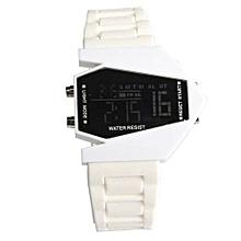 Tectores 2018 Fashion Multifunction Boys Men's Girl's Silicone LED Light Digital Quartz Wrist Sport Watch WT