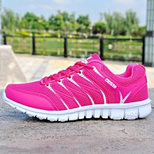 New ladies sneakers pink mesh shoes