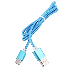Type C Braided Data Sync Charging USB 3.1 Cable For Smartphone Blue