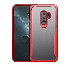 Samsung Galaxy S9 Plus Silicon Transparent Case, PC And TPU Anti-knock Phone Back Cover For Samsung Galaxy S9 Plus-red.