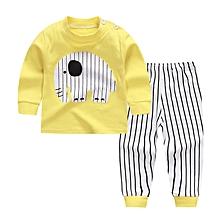 Baby Boy's Clothing Set Tops+Pants (Yellow)