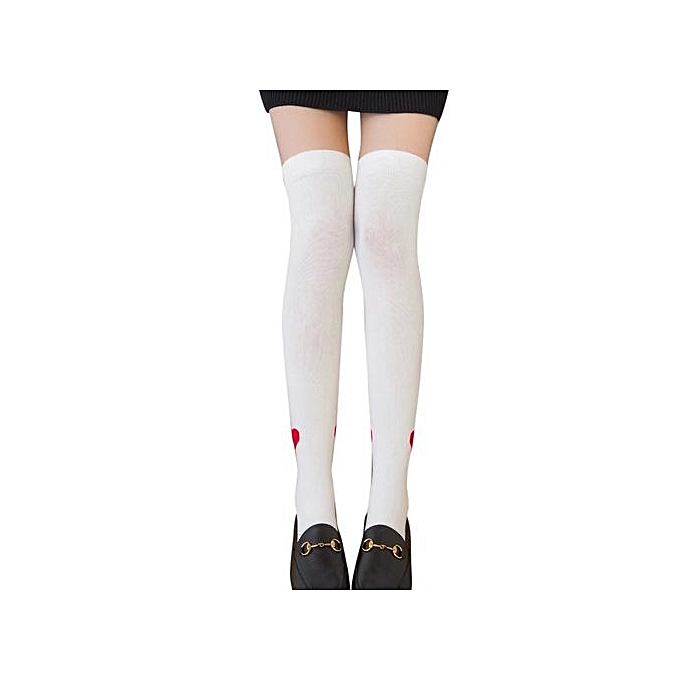 b856319d5 Eissely Women Sexy Thigh High Over The Knee Socks Long Cotton ...
