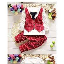 2018 Red Baby Boy Set-kids fashion for photo shoots and parties