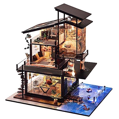 Generic Valencia Coastal Villa Doll House Miniatures Furniture Kit