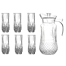 7 pcs glass set with 6 glasses and 1 jug