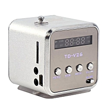 Portable Mini Speaker FM Radio Support TF Card And U Disk Portable Players Silver