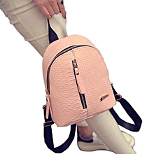 f9aecf7faa46 bluerdream-Women Leather Backpacks Schoolbags Travel Shoulder Bag - Pink