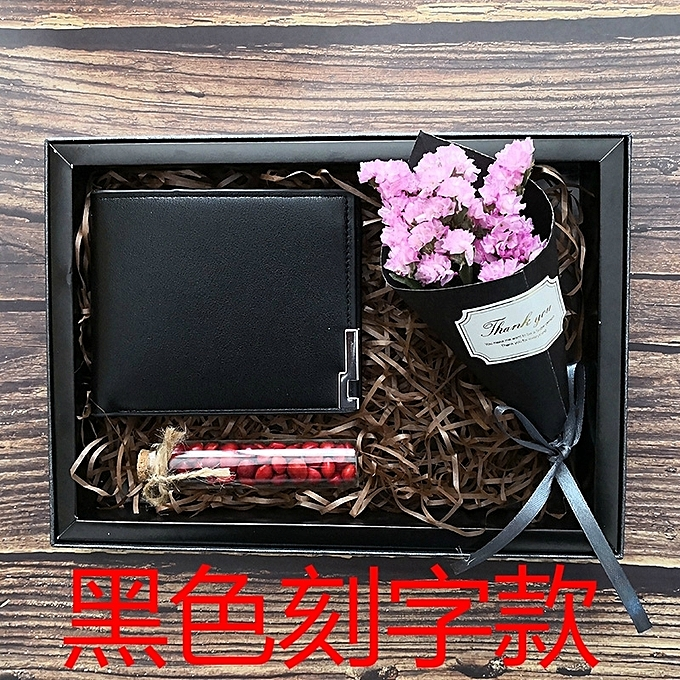 Fashion Black Wallet Lettering2018 Summer New Send Father To Boyfriend Birthday Holiday Creative Gifts Gift Boys Special