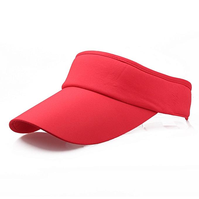 952615409 Hot Selling New Tennis Caps Stylish Women Men Uni Beach Sports Sun Visor  Hat Golf Caps Summer Travel Sun Hat Outdoor(Red)