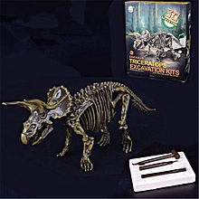 Dinosaur Digging Kit Science Kids Excavation Education Mammoth Skeleton 3D Toy